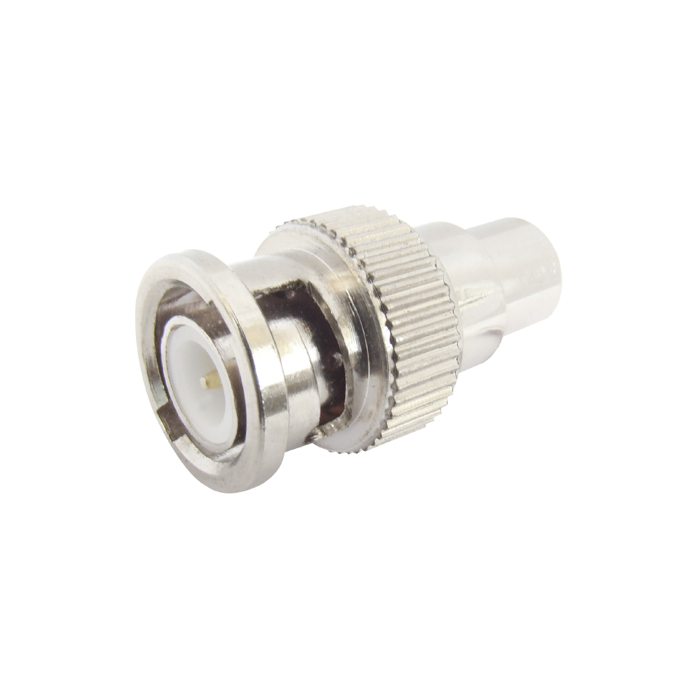 MX BNC PLUG TO MX RCA SOCKET CONNECTOR (PIN GOLD PLATED)