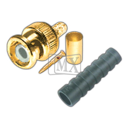 MX BNC CONNECTOR CRIMPING TYPE (DURLIN) FOR MX RG - 58U,59U CABLE