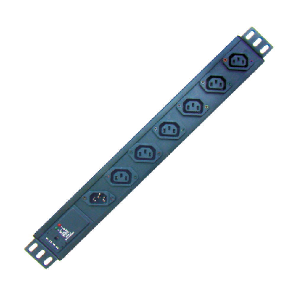 MX 1 IN IEC 320 C14 & 6 OUT IEC 320 C13 TYPE POWER STRIP (10 AMP)