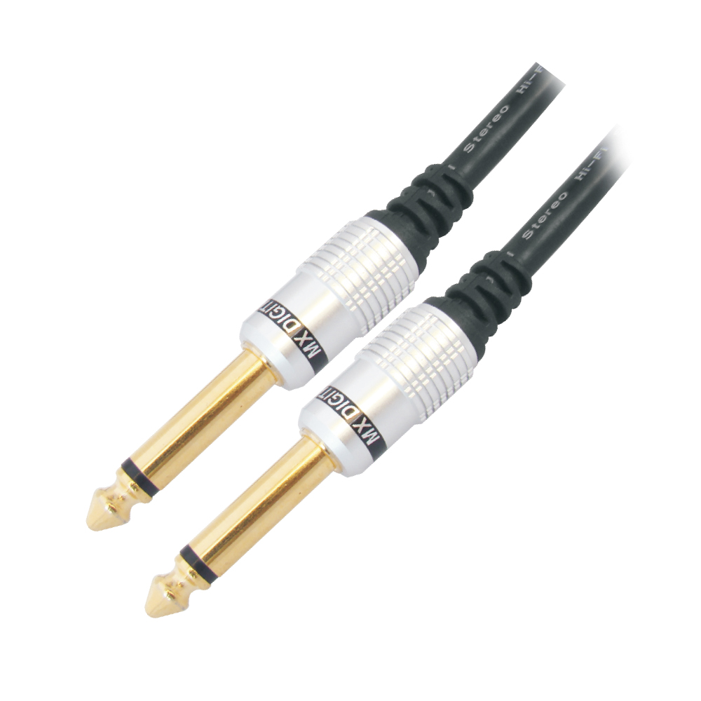 MX P-38 MONO MALE TO MX P-38 MONO MALE DIGITAL LINK CORD GOLD PLATED - 1.5 MTRS.