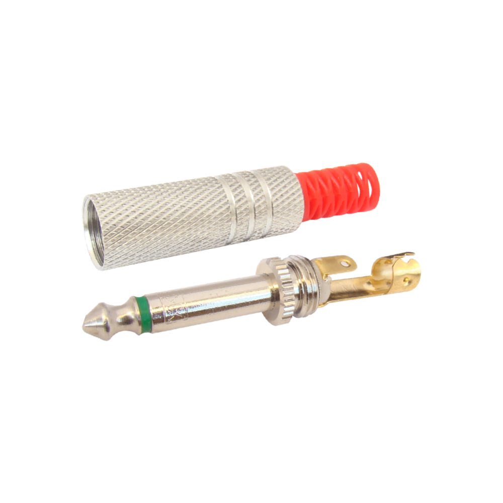 MX P-38 MONO JACK CONNECTOR FULL METAL (COPPER PLATED) (CONTACT GOLD PLATED)