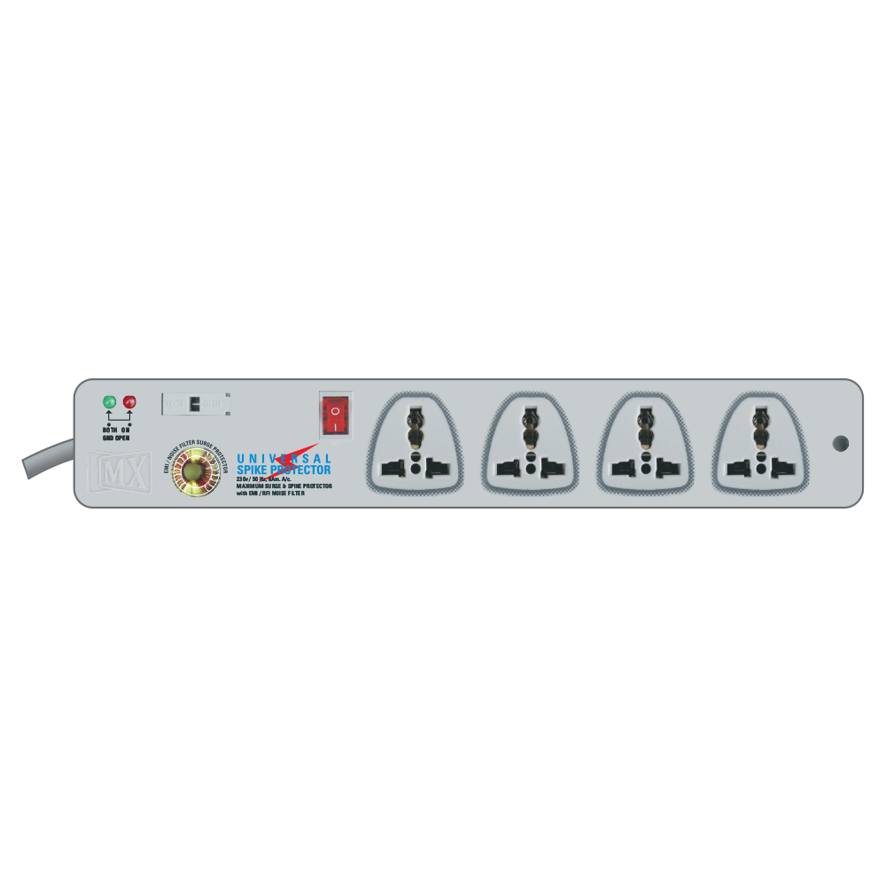 MX 4 SOCKET SURGE AND SPIKE PROTECTOR