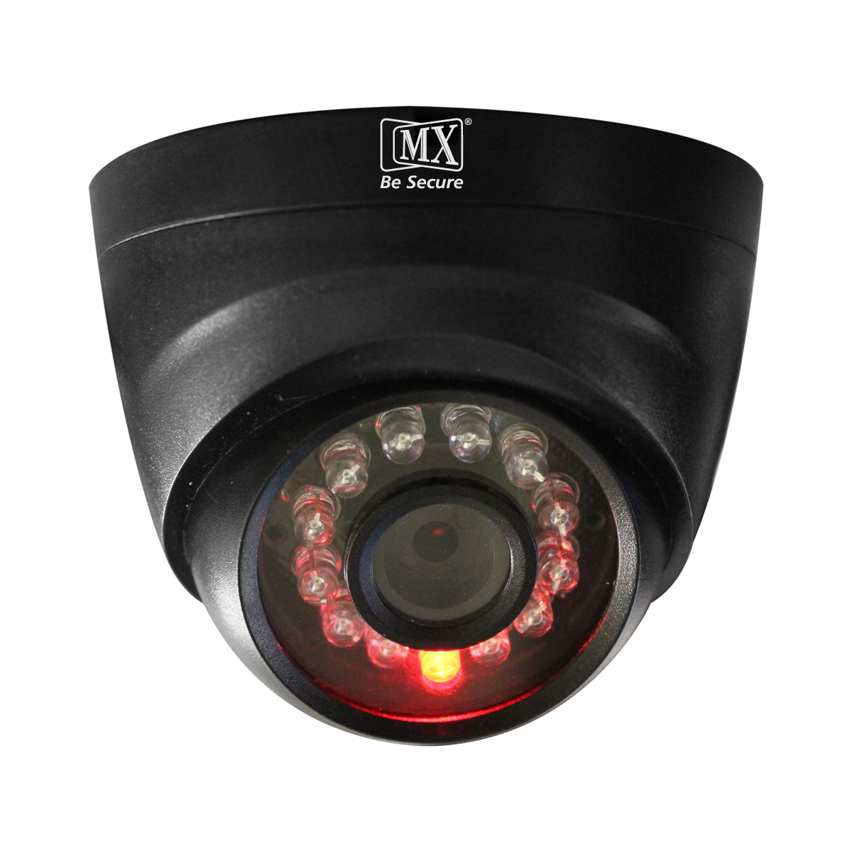 MX Dummy Fake Simulated Infrared IR LED Sensor Black Dome Wireless Security Camera With Red Light Realistic Looking CCTV Surveillance