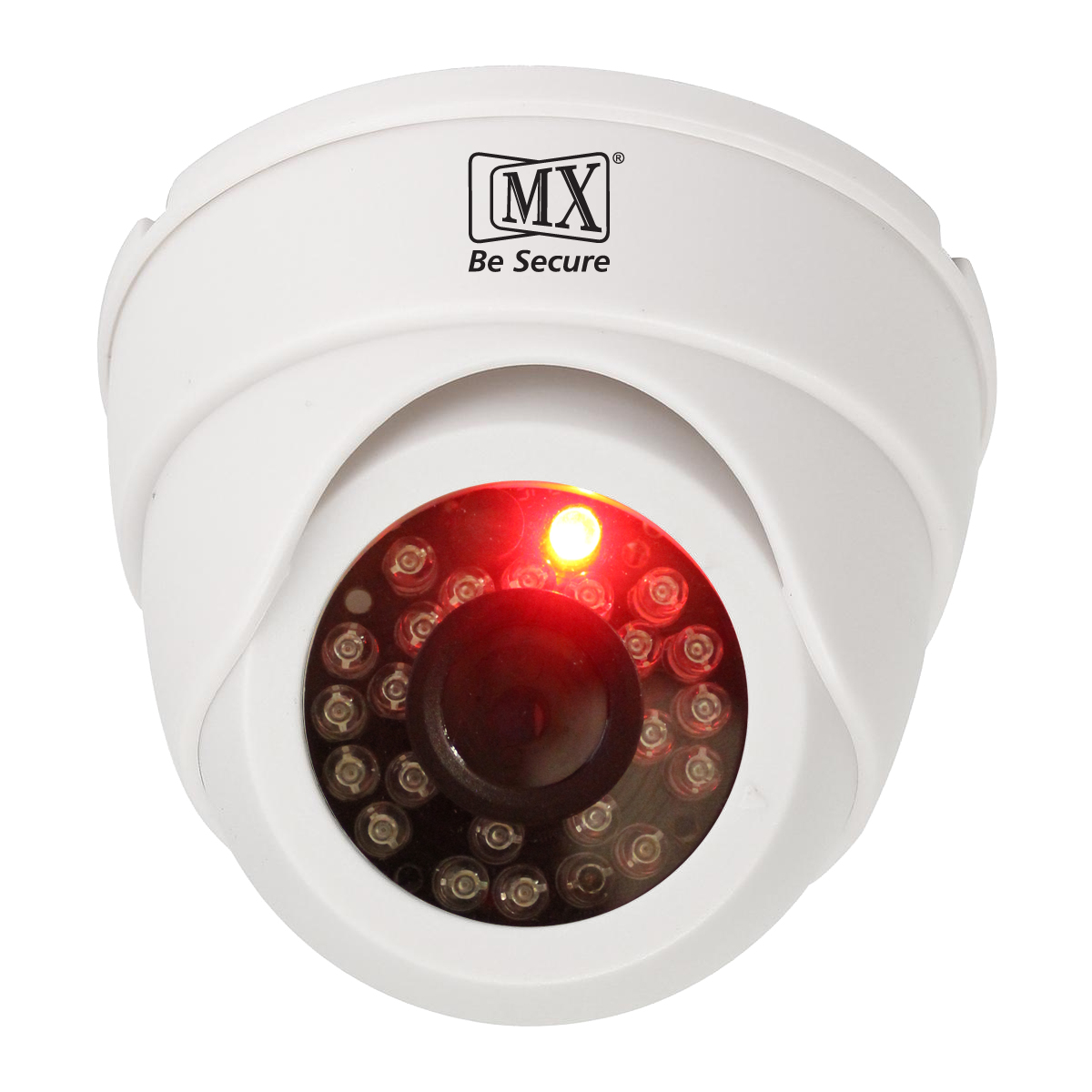 MX Dummy Fake Simulated Infrared IR LED Sensor White Dome Wireless Security Camera With Red Light Realistic Looking CCTV Surveillance