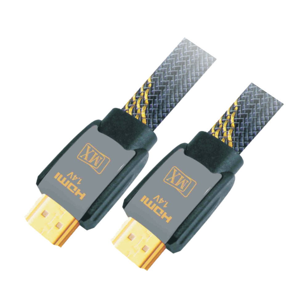 MX HDMI MALE TO HDMI MALE CORD - 1.4 VERSION - FLAT CABLE - 1.5 MTRS